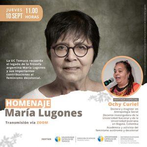 Homenaje a María Lugones
