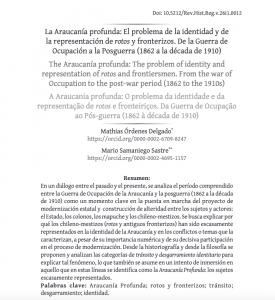 Nueva publicación: La Araucanía profunda: El problema de la identidad y de la representación…