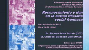 """Presentación número especial """"Reconocimiento y don en la actual filosofía social francesa"""""""