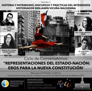 Primera sesión del Ciclo de Conversatorios: Representaciones del Estado-Nación: Eros para una nueva constitución